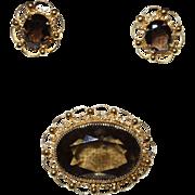 Signed Alice Caviness Brooch/Earrings