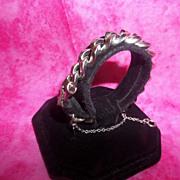 SALE Wow! Vintage Monet Heavy Silver Tone Chain Link Bracelet