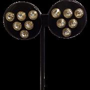 SALE Stunning Runway Lucite and Rhinestone Earrings