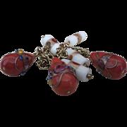 Vintage Venetian Wedding Cake Charm Bracelet