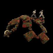 SALE Unique Creation by Danae of Multi Colored Quartz Necklace with Crystals
