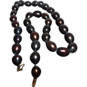SALE Stunning Single Strand of Cultured Baroque Tahitian Pearls 11-13 mm with14K Gold Clasp