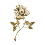 SALE Signed Sterling Flower Brooch with Rhinestones