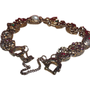 Beautiful Victorian Revival Bracelet with Twelve Charms