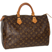 SOLD Authentic Louis Vuitton vintage Monogram Speedy 35 handbag purse