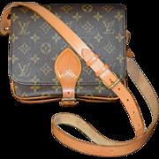 SALE Authentic Louis Vuitton vintage Monogram Cartouchiere MM messenger shoulder bag