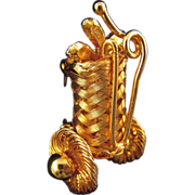 REDUCED Tiny Woven Wire Golf Bag Pin