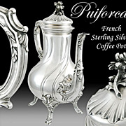Puiforcat: French Rococo Style Sterling Silver Coffee Pot