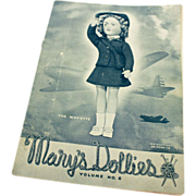 SALE Mary's Dollies Pattern Book Volume No. 6 - 1943