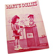 SALE Mary's Dollies Pattern Book Volume No. 10 - 1946