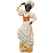 Gebruber Knoch Ceramic Black Woman Figurine