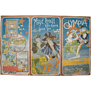 """SOLD 1897 French Art Nouveau Music Program """"Olympia"""""""