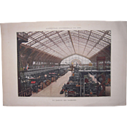 Lot 3 Large 1889 Paris Exposition Chomotypogravures