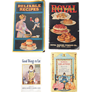 Lot of 4 1920s/1930s Cookbooks