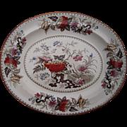 Large Victorian Era Wedgewood Bullfinch Pattern Platter