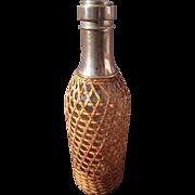 SOLD Early 20th Century Bottle w/Wicker Covering