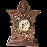 1925 Copper or Bronze Advertising Clock