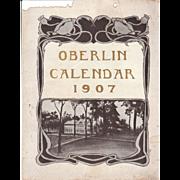 1907 Calendar of Oberlin College, Ohio