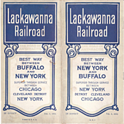 1924 Lackawana Railroad Timetable