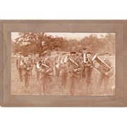 SOLD c1900 Photo of Boys Brass Band