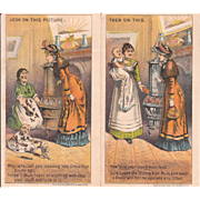 1880s Rising Sun Stove Polish Trade Card
