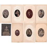 SOLD Lot of 8 Tintypes of Children