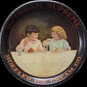 Large 1915 Hoeffler Ice Cream Advertising Tray