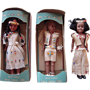 Lot of 3 pre 1963 Indian Dolls w/ 2 Original Boxes