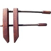 c1900 Large Wood Furniture Clamp