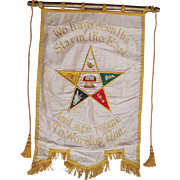 SOLD Large Mid 20th Century Order of Eastern Star Banner