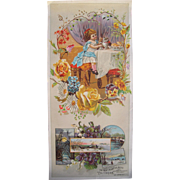 Oversized Advertising Victorian Trade Card A & P Tea Co