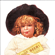 Large Hires Root Beer Victorian Advertising Lithograph
