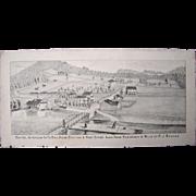 c1870s Lithograph of Baxter, PA