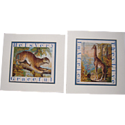 Pair Matted Victorian Animal Strip Puzzles