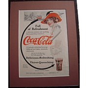 c1915-1920 Matted Coca Cola / Grape Nuts Magazine Advertisement #10