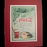1916 Matted Coca Cola Magazine Advertisement #16