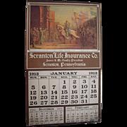 Large 1913 Insurance Advertising Calendar from Scranton, PA