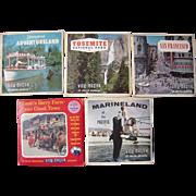 Lot 5 Packs California Viewmaster Reels 1950s/1960s