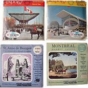 Lot 4 Packs Canada Viewmaster Reels 1950s/1960s