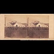 1860 Stereoview of Cuba #75 Sugar Mill