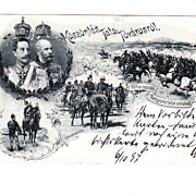 1897 Postcard of Kaiser Wilhelm & Franz Joseph