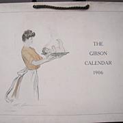 Large 1906 Gibson Girl Calendar