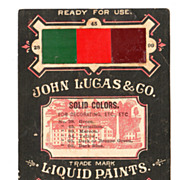 1870s Paint Chip Advertising Trade Card