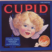 c1920s/1930s Cupid Orange Crate Label