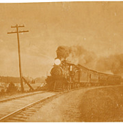 SOLD c1890s Large Albumen Photo of Train