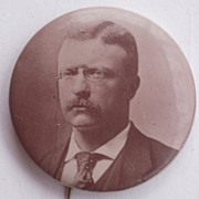 Large Theodore Roosevelt Campaign Button