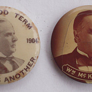 Pair William McKinley Campaign Buttons