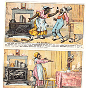 Black Americana Rising Sun Stove Polish Trade Card