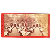 Stereoview Interior of Lick House, San Francisco by Watkins