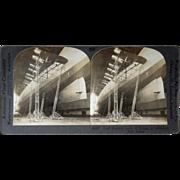 Stereoview Graf Zeppelin at Lakehurst, NJ
